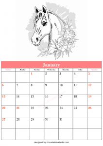 Free Blank January Calendar Printable
