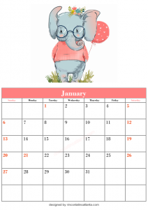 Free Blank January Calendar Printable Template