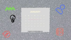 1 January One Year Calendar Countdown Printable