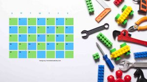 2 Five Kindergarten Countdown Calendar With Toys Background