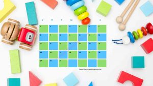3 Five Kindergarten Countdown Calendar With Toys Background