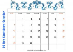 4 Unix Design 30 Day Countdown Calendar Printable Free