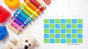 4Five Kindergarten Countdown Calendar With Toys Background