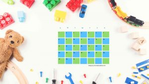 Five Kindergarten Countdown Calendar With Toys Background 2