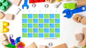 Five Kindergarten Countdown Calendar With Toys Background