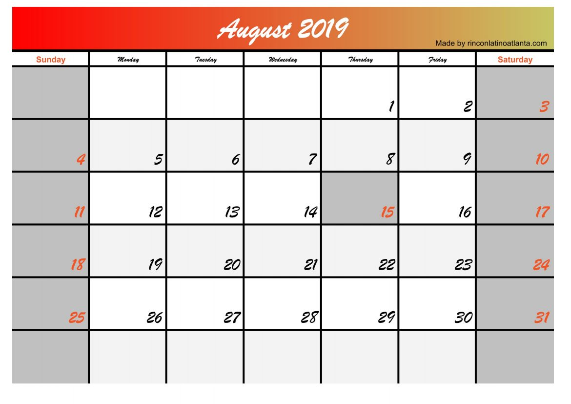 5 Best Calendar Designs in August 2019