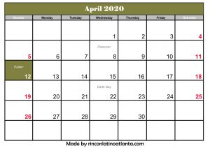 april 2020 calendar australia with holiday printable template